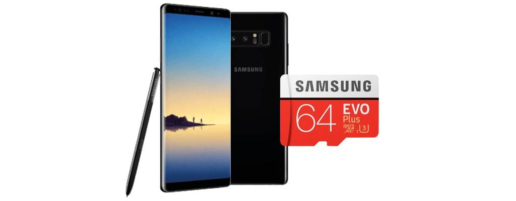 MediaMarkt: Galaxy Note 8 für 379 € und 64GB-Speicherkarte für 10 €