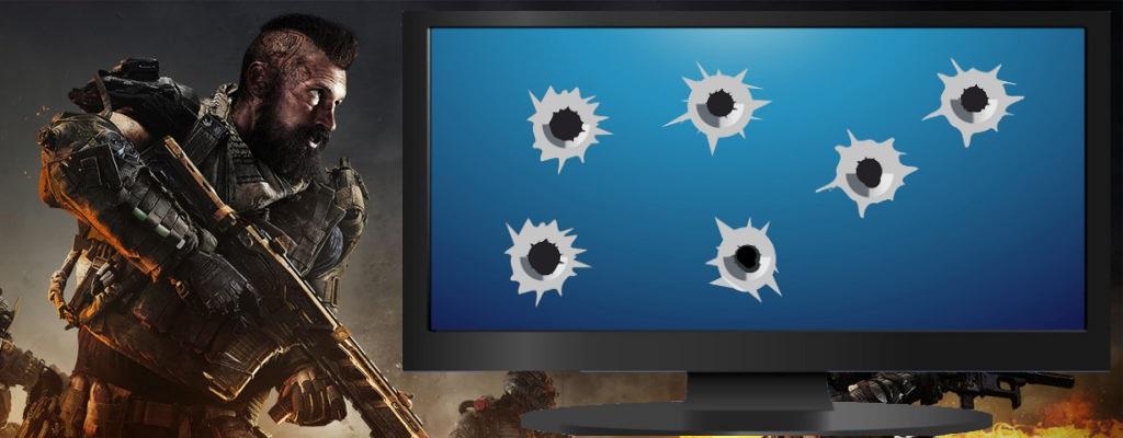 Gaming-Monitor wird bei Schießerei getroffen und geht immer noch