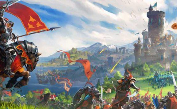 Albion Online Leute stürmen eine Burg Titel