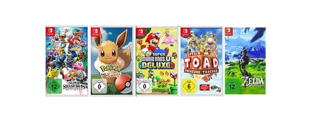 5 Spiele für Nintendo Switch bei Amazon ab 100 Euro im Angebot