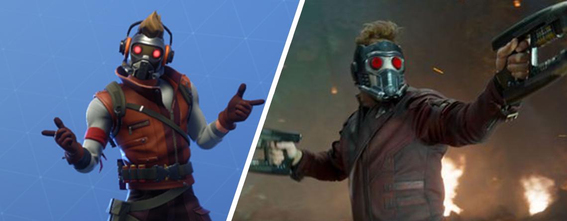 Fortnite bringt Star Lord als neuen Skin – Für 500 V-Bucks mehr gibt's sein perfektes Ablenkungsmanöver