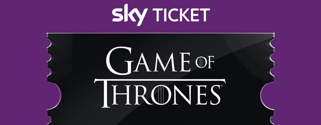 Sichert euch 1 Monat Sky Ticket mit Game of Thrones für nur 4,99 Euro