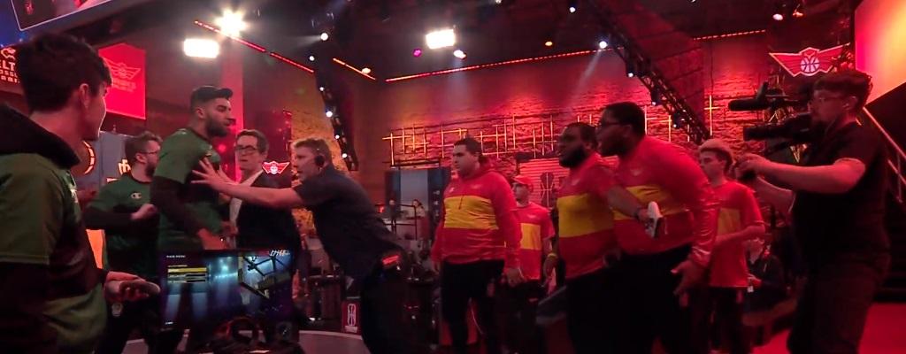 Gaming-Teams gehen nach Match live aufeinander los, weil Handschlag scheiterte