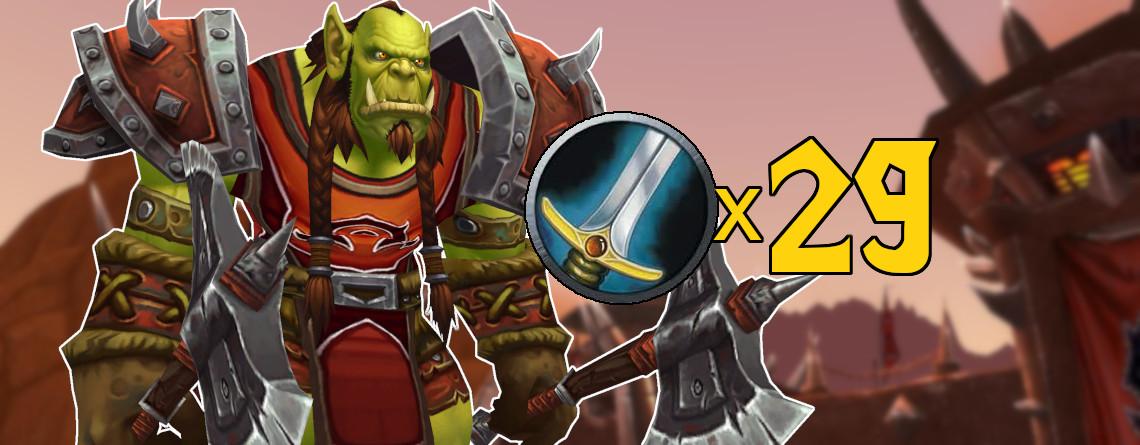 Dieser WoW-Spieler hat 29 Charaktere auf Stufe 120 – alle sind Krieger