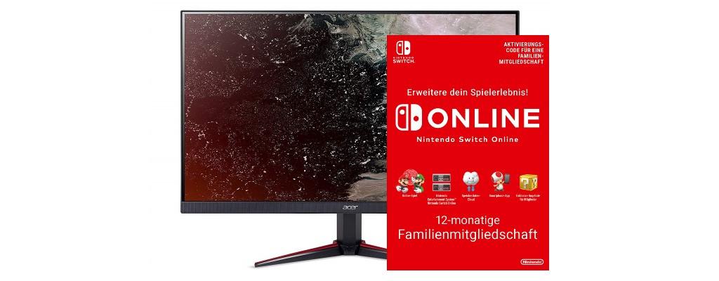 Amazon: Nintendo Switch Online-Abo, Spiele & Gaming-Monitore reduziert
