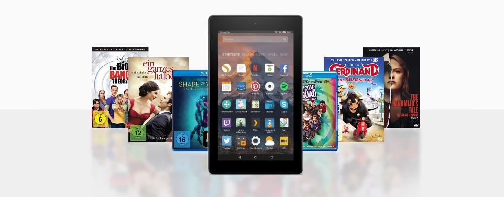 Amazon-Angebote: Filme und Serien reduziert, Fire 7-Tablet für 40€