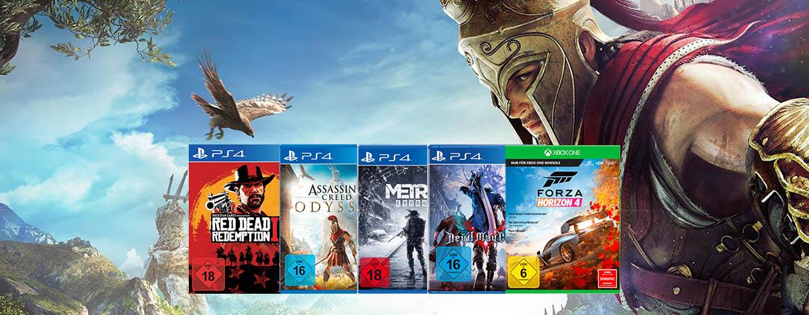 5 Spiele bei Amazon für PS4 oder Xbox One kaufen, nur 3 zahlen