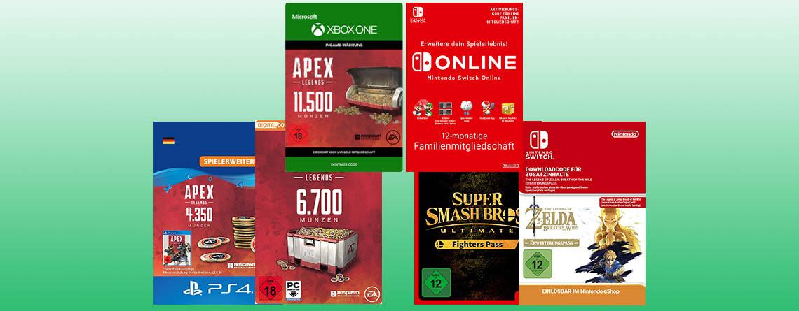 Bis zu 25% Rabatt auf Apex Coins und Nintendo Switch Spiele bei Amazon