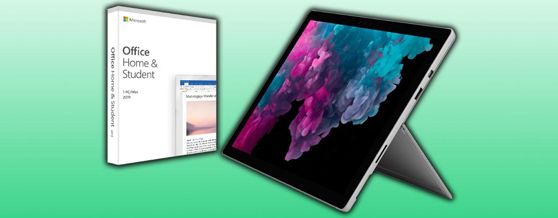 Microsoft Surface Pro 6 im Bundle mit Office für nur 799 Euro