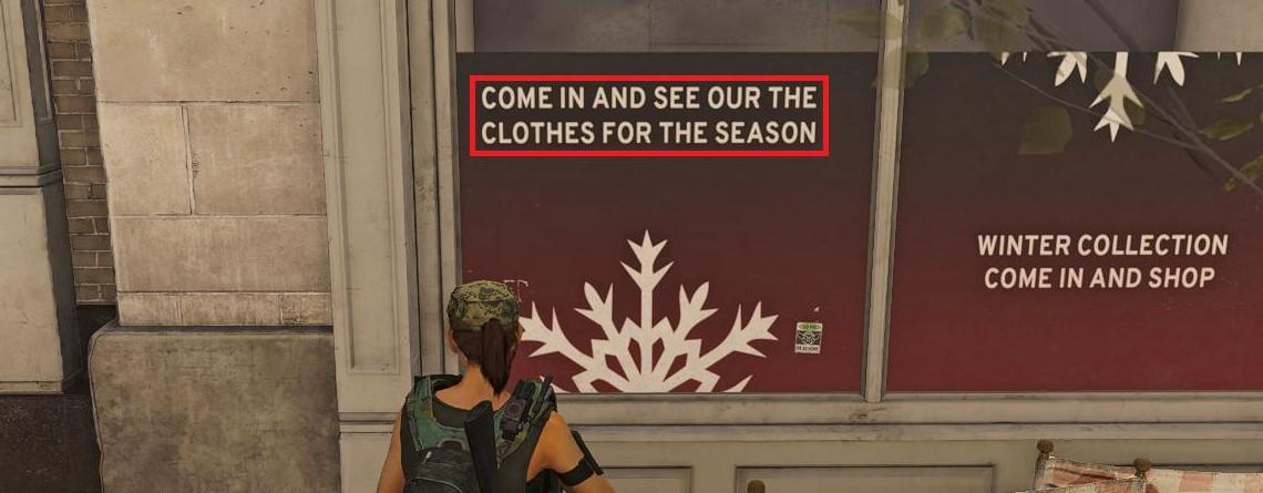 Jemand ist durch The Division 2 gelaufen, hat die Plakate gelesen und 15 Fehler gefunden