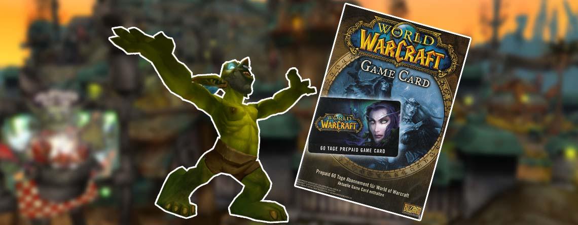 WoW GameCard günstiger als beim Keyseller – 60 Tage Spielzeit im Angebot