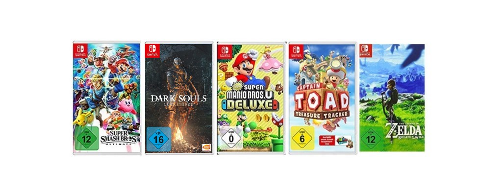 5 Spiele für Nintendo Switch bei Amazon ab 100 Euro & weitere Aktionen