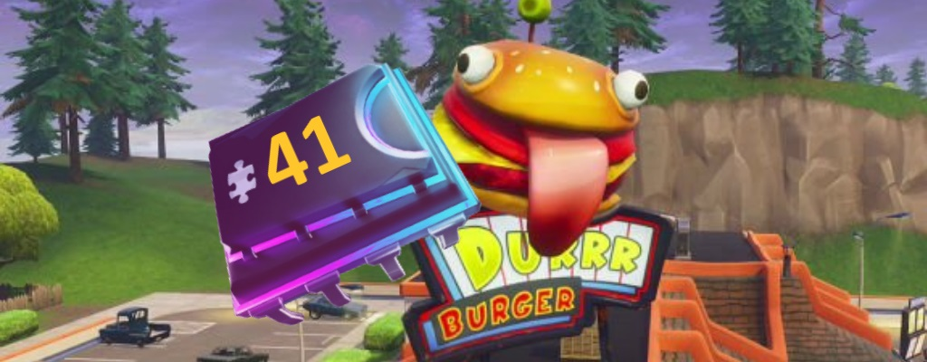 Fortnite: Fortbyte #41 – Emoticon Tomatenkopf in Durr Burger einsetzen
