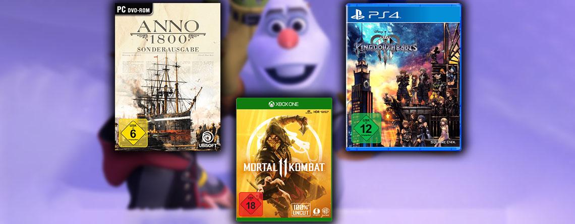 Amazon 5 für 3: Spiele für PC, PS4 und Xbox One im Angebot