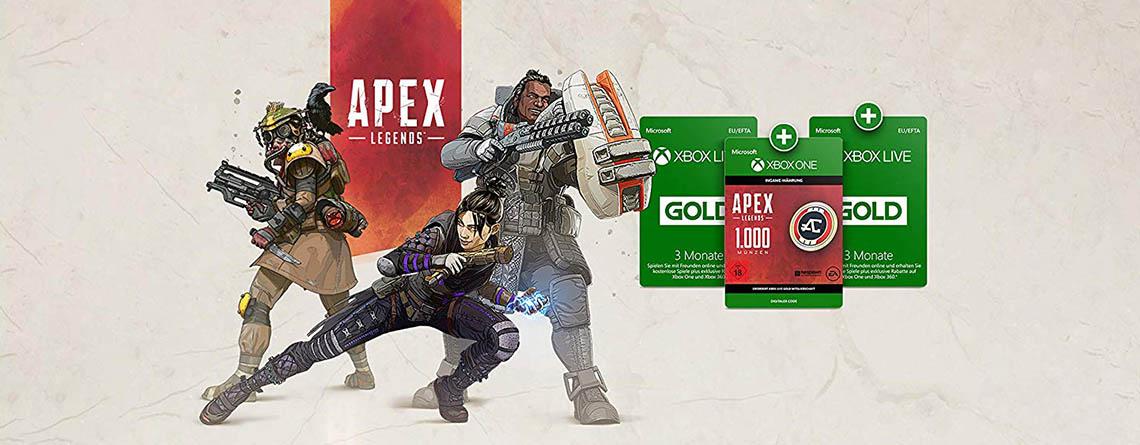 6 Monate Xbox Live Gold + Apex Coins für nur 19,99 Euro bei Amazon