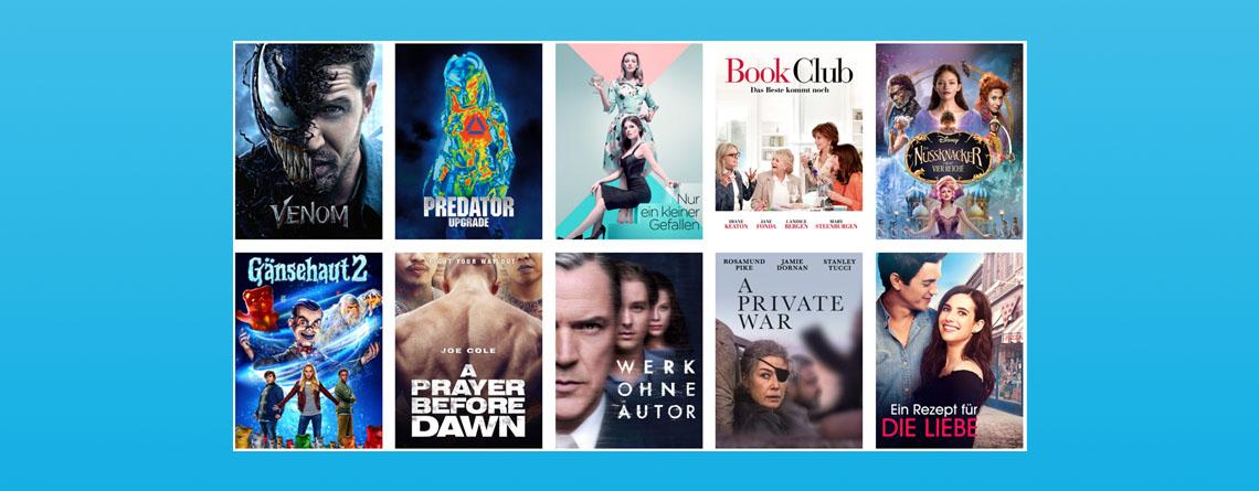 Amazon Prime Video: 10 Filme für je 99 Cent leihen, Venom als Highlight