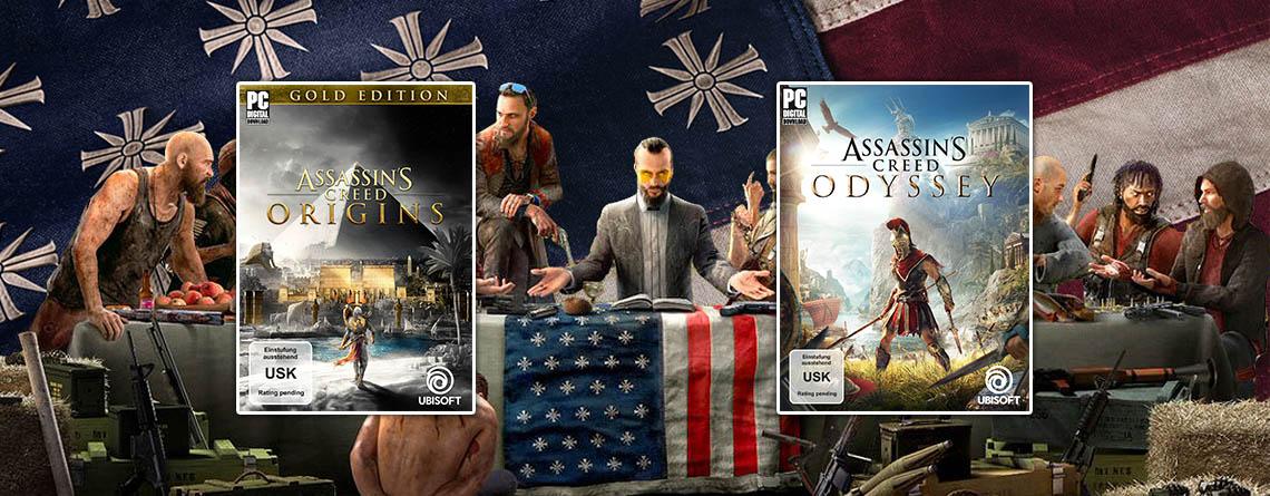 Ubisoft Sale bei Amazon – Far Cry 5 und Assassin's Creed für PC stark reduziert