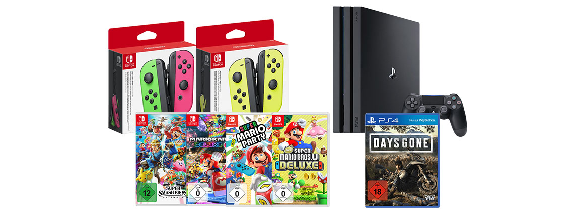 MediaMarkt Angebot: Nintendo Switch Joy-Con Set mit Super Smash Bros. für 99€