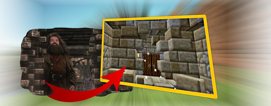 Spieler in Minecraft baut magische Tür aus Harry Potter nach – So bekommt ihr sie auch