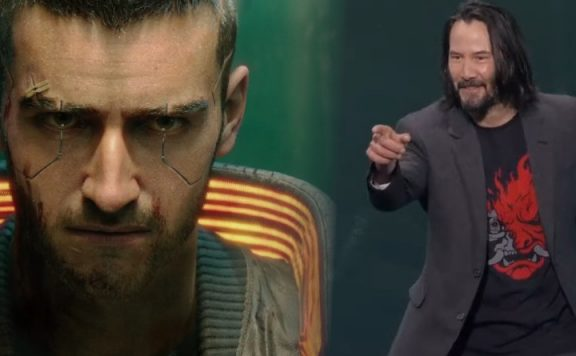 Cyberpunk Keanu Reeves Breathtaking Pose title 1140×445