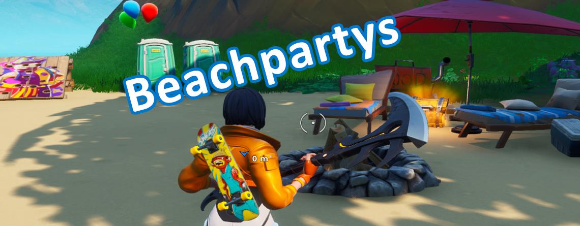 Fortnite: Wo ist eine Beach Party? – Fundorte für die Beachparty