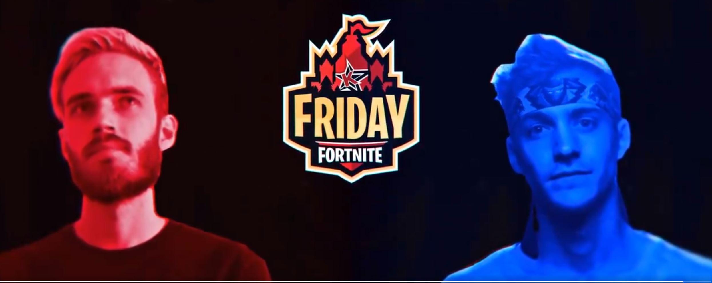 Friday Fortnite vereint heute Ninja und PewDiePie – So könnt Ihr's sehen