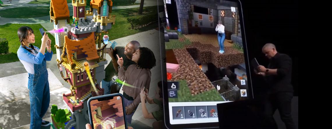 Hier ist erstes Gameplay von Minecraft Earth – es sieht fantastisch aus