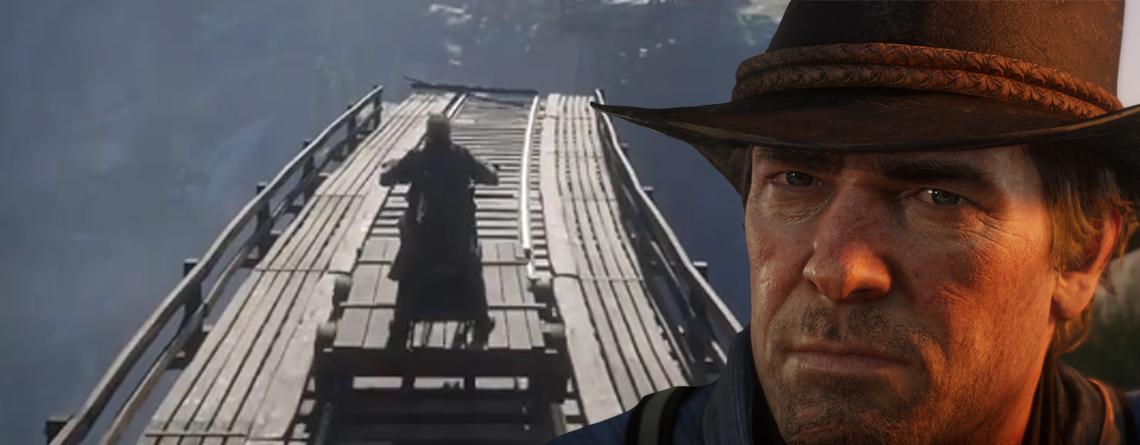 Irrwitzige Fahrt mit Draisine verblüfft Cowboys in Red Dead Redemption 2
