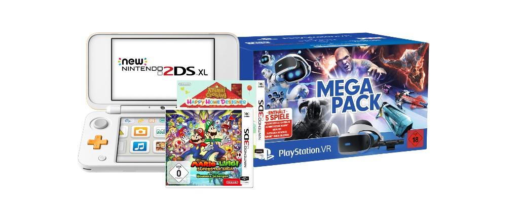New Nintendo 2DS XL mit Spielen & PSVR Megapack bei Saturn reduziert