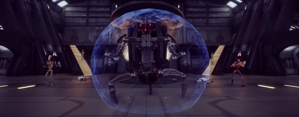 1. Gameplay zeigt Droidekas aus dem Riesen-Update bei Star Wars Battlefront 2