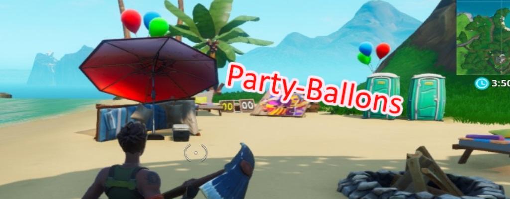 Fortnite: Party-Ballon-Deko zum Platzen bringen – Fundorte der Ballons
