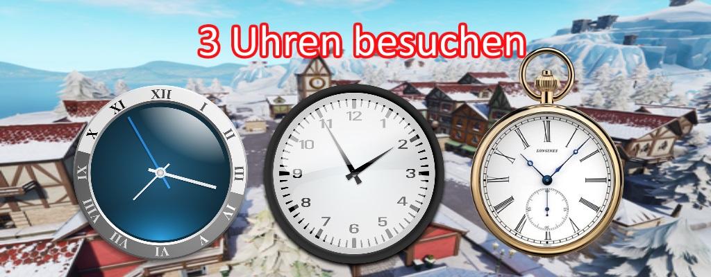 Fortnite: Besuche 3 verschiedene Uhren für Woche 8 – Alle Fundorte