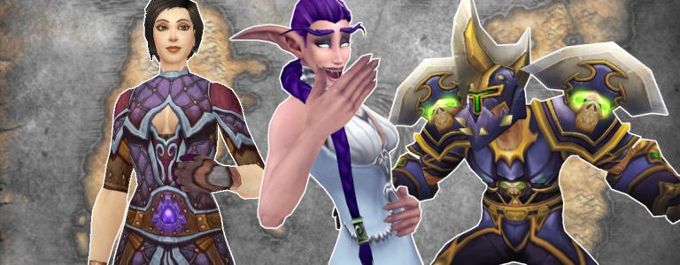 WoW Female Mage Priest Male Warrior title 1140×445