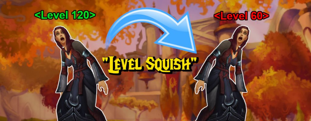 WoW Level Squish 120 to 60 title 1140x445