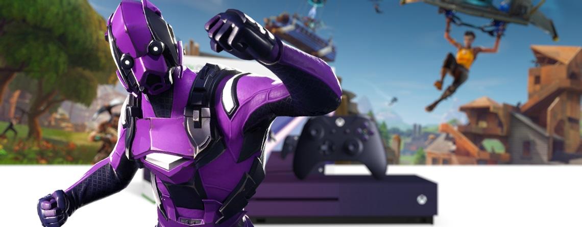 Dieser Skin in Fortnite kostet 300€ und ihr bekommt eine lila Xbox One dazu