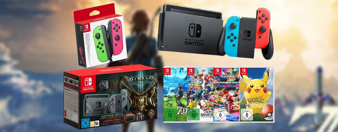 MediaMarkt Mehrwertsteuer Aktion: Nintendo Switch für 268€, Spiele zum Spitzenpreis