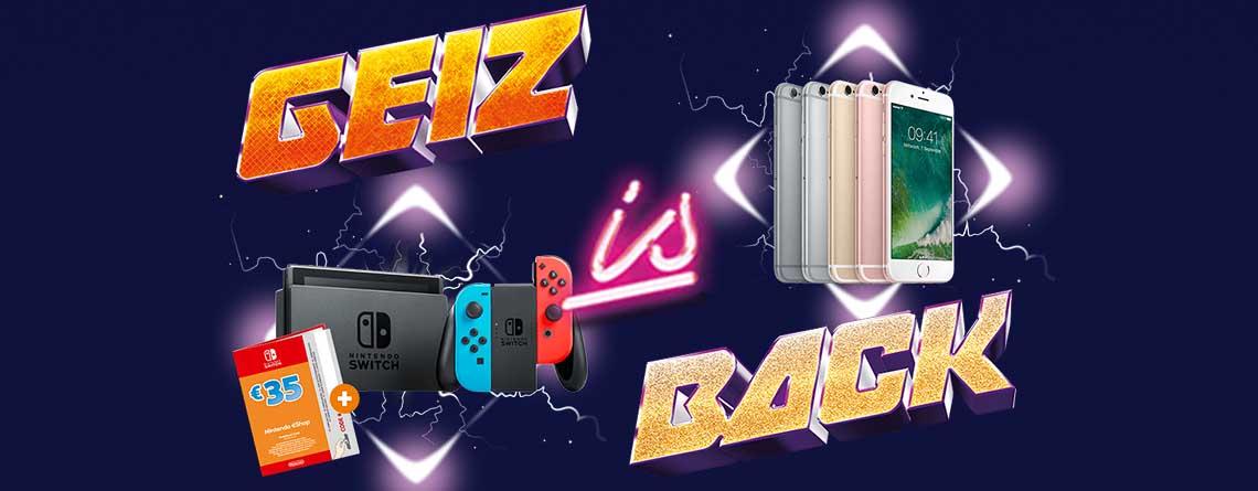 Geiz is Back bei Saturn: Nintendo Switch mit 35 Euro eShop Guthaben
