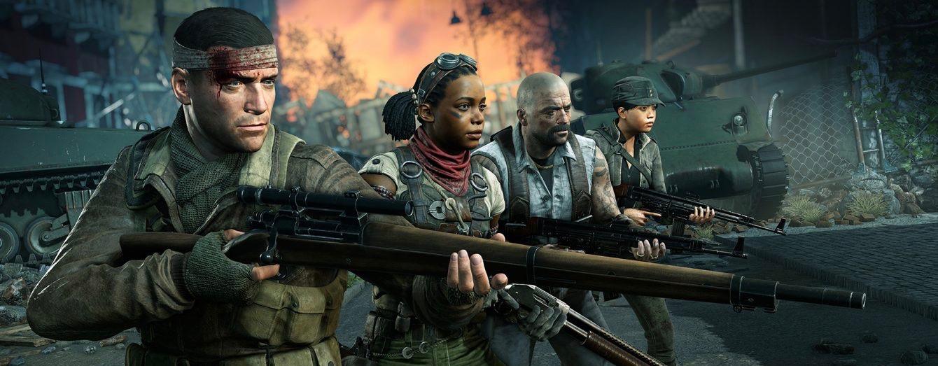 E3 2019 hatte einen Trailer, wo 4 Leute etwa 200 Zombies killten und dann lachte Hitler