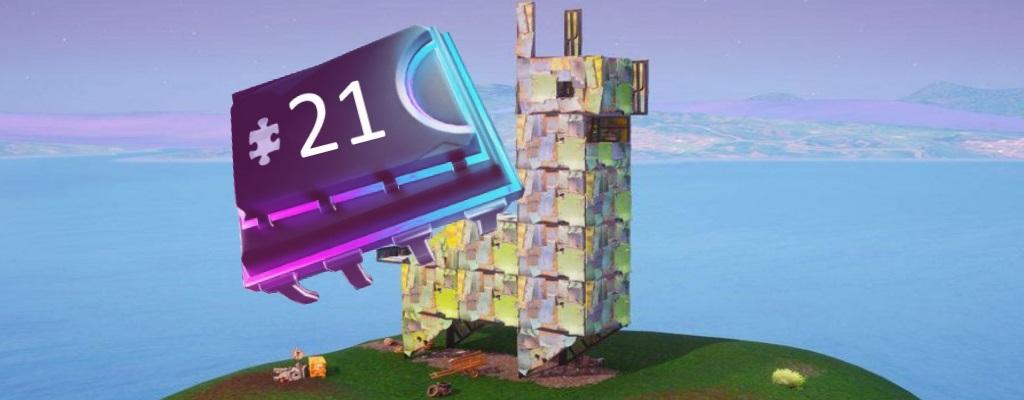 Fortnite: Fortbyte #21 auffindbar in einem Metalllama-Gebäude – Fundort
