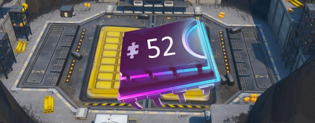 "Fortnite: Fortbyte #52 finden mit Spraymotiv ""Bot"" in Roboterfabrik"