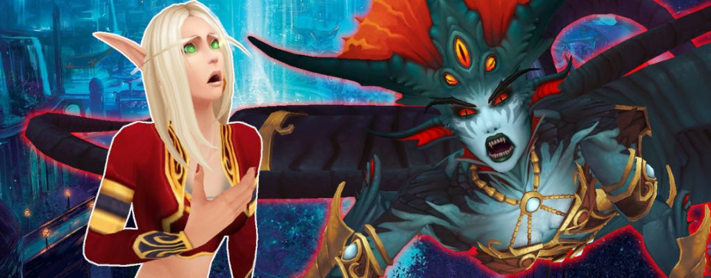 WoW Blood Elf Shocked Azshara title 1140x445