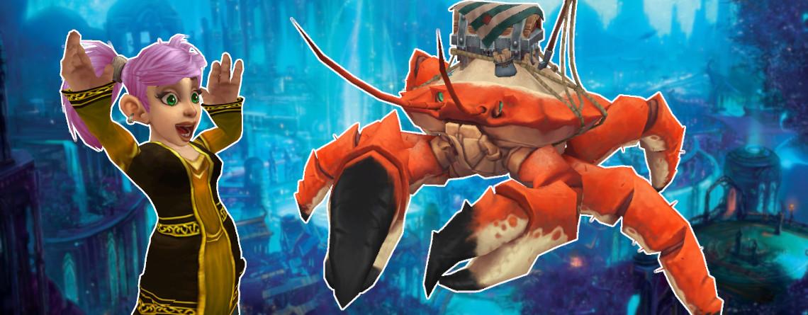 WoW-Guide: So bekommt ihr das Krabben-Mount Schnapprückenkrabbler