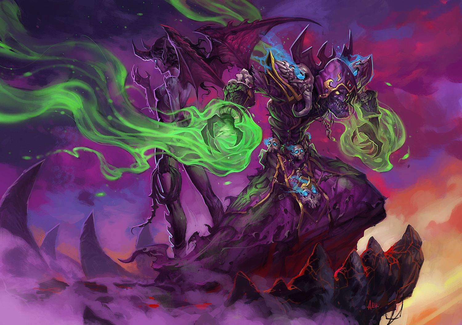WoW Warlock Artwork