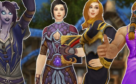 WoW human happy draenei cheer goldshire title 1140×445