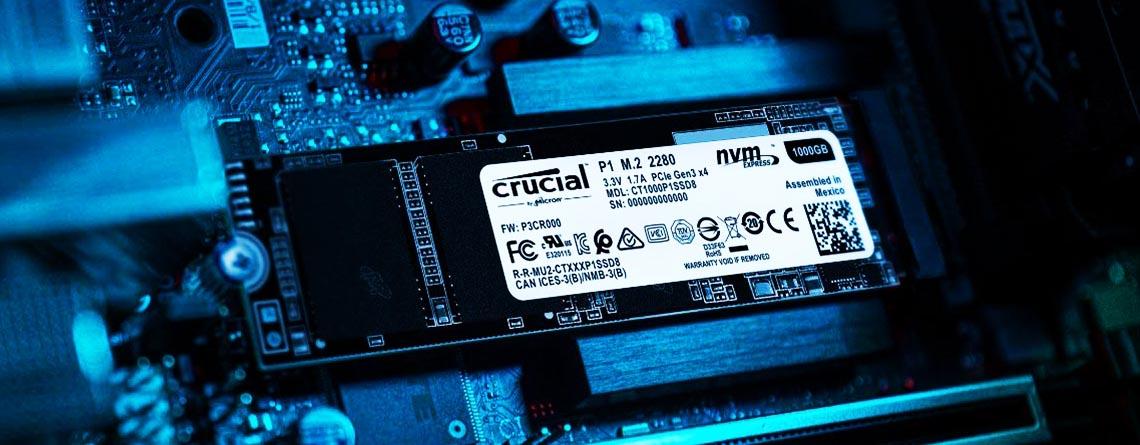1 TB M.2 SSD Crucial P1 für nur 107 Euro im Angebot bei Amazon