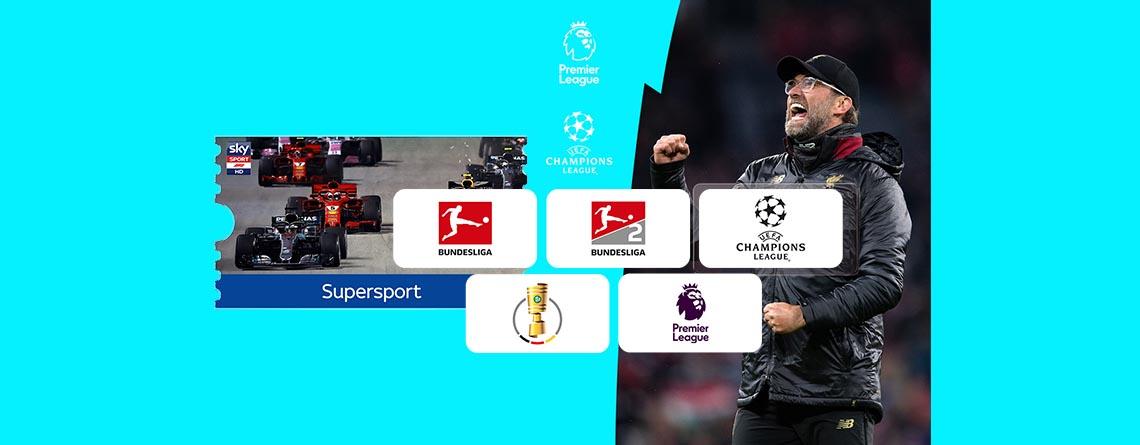 Mit dem Sky Supersport Ticket Fußball und Formel 1 günstig streamen