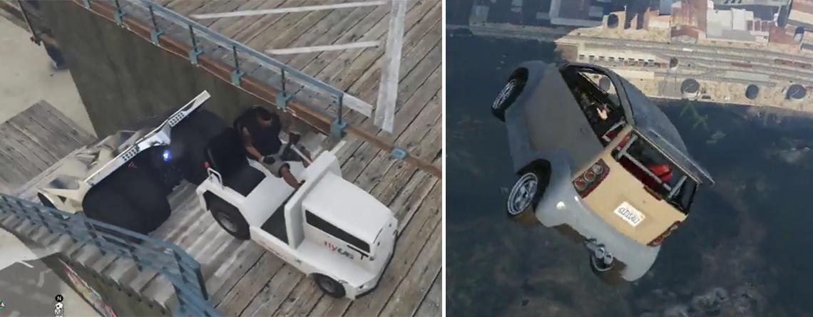 Extremsport in GTA Online – Spieler schleudern kleine Autos in die Luft