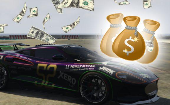GTA Online Geld Zeitrennen Titel