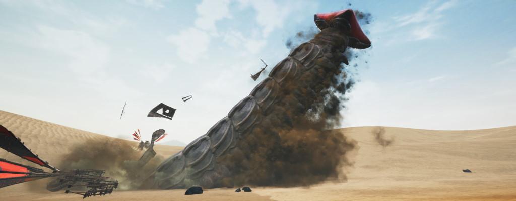 Survival-MMO Last Oasis startet bald auf Steam – Sandwurm im neuen Trailer