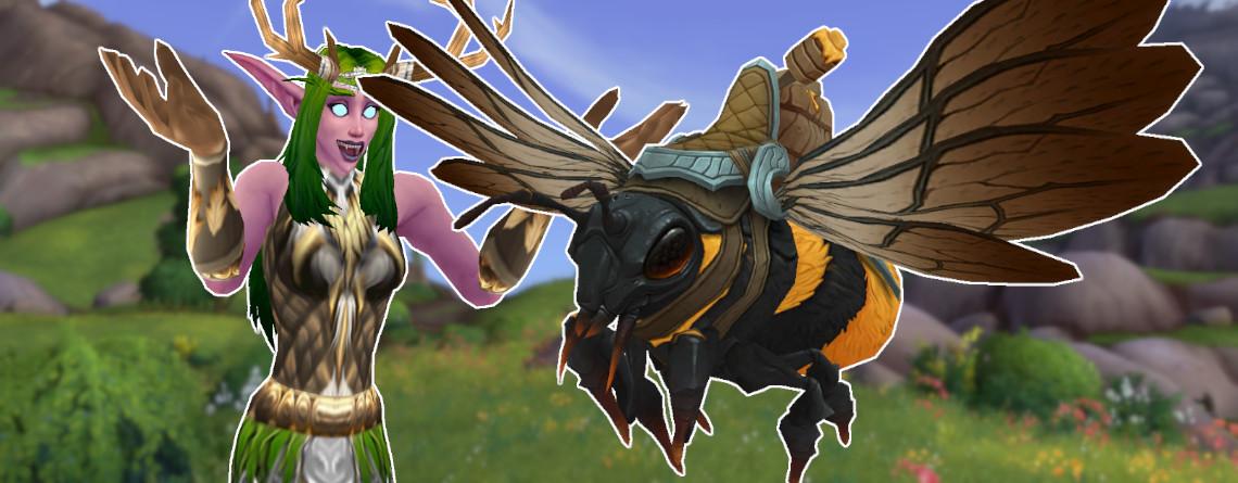 Wer in WoW eine Biene reiten will, muss 6.000 Items farmen
